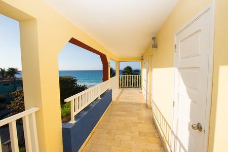 The open corridor hotel with ocean views photo