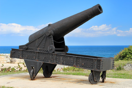 The cannon at the fortress of El Morro in Cuba photo