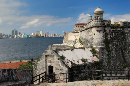 El Morro fortress with the city of Havana in the background photo