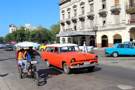 HAVANA - FEBRUARY 10: Street in the old part of the city on February 10, 2014 in Havana. Havana is the largest city in the Caribbean.