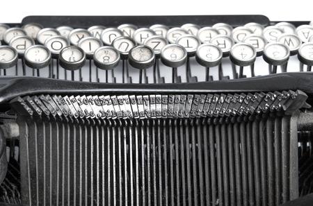 Black and white close-up photo of old typewriter Standard-Bild