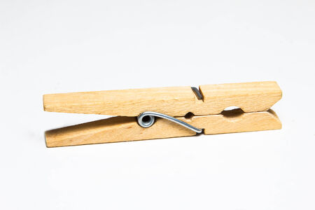 clothes peg: Clothes peg isolated on white background