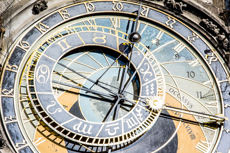 Detail at the clock on Prague's Astronomical Clock  photo