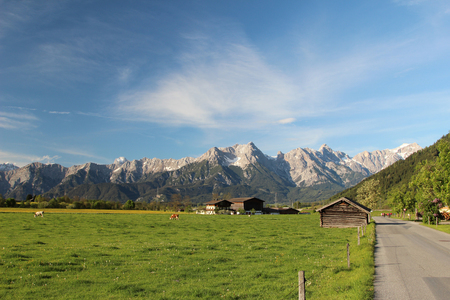 The scenery of the Austrian Alps in summer