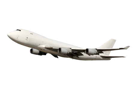 Large white plane isolated on white background Stock Photo