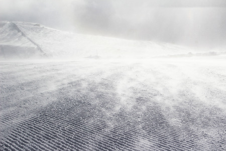 pompous: Empty ski slope covered with snow pompous Stock Photo