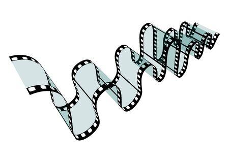 32: Transparent Film Strip Vector Illustration on White Background - Format 3:2 Stock Photo
