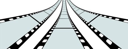 perforation: Transparent Film Strip Vector Illustration on White Background - Format 3:2 Stock Photo