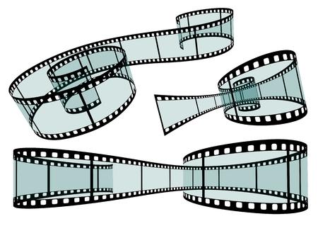 film roll: Transparent Film Strip Vector Illustration on White Background - Format 3:2 - Set, Collection