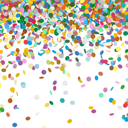 chads: Confetti Background Template - Falling Chads Backdrop Vector Illustration