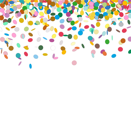 Confetti Background Template - Falling Chads Backdrop Vector Illustration with Free Space for Your Own Text Banque d'images