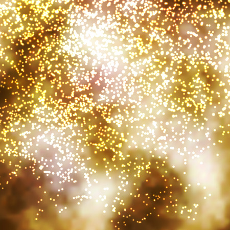 Golden Incandescent Glittering Particle Background Illustration - Golden Brown Shiny New Years Eve Backdrop Illustration