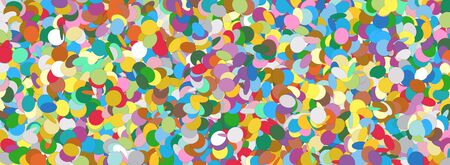 Confetti Panorama Background Template Texture - Colorful Chads Banner Backdrop - Vector Illustration