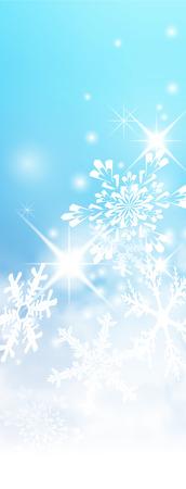 verticales: Resumen de luz azul, turquesa - Invierno verticales de fondo Banner - con copos de nieve y estrellitas. Telón de fondo de frío y brumoso con blandas más destacado y copos de nieve.