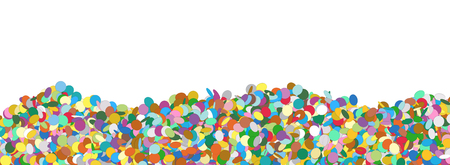 Confetti Panorama Background Template with Free Text Space - Colorful Chads Banner Backdrop - Vector Illustration Stock Photo