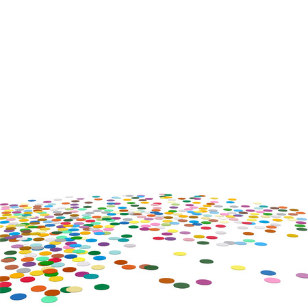 Confetti Background Template - Chads Backdrop Vector Illustration with Free Space for Your Own Text