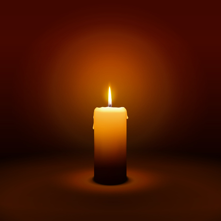 1st Sunday of Advent - First Candle with Warm Atmosphere - Candlelight Christmas Card Template