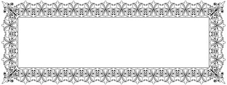 edge: Decorative Vector Frame Panorama Template with Empty Space for Certificate, Report or other Documents Illustration