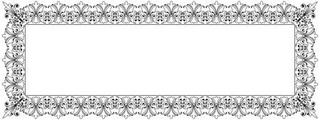 lineas decorativas: Vector del marco decorativo Plantilla Panorama con el espacio vacío para el certificado, informe u otros documentos