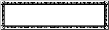 other space: Decorative Vector Frame Panorama Template with Empty Space for Certificate, Report or other Documents Illustration