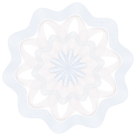 Guilloche Pattern Rosette for Certificate, Play Money or Other Security Papers - Vector Illustration