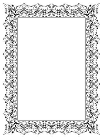 Decoratieve Vector Frame sjabloon met lege ruimte voor Certificate, Report of andere documenten