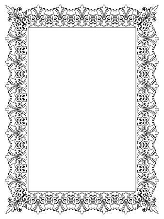 Decorative Vector Frame Template with Empty Space for Certificate, Report or other Documents Imagens - 46475624