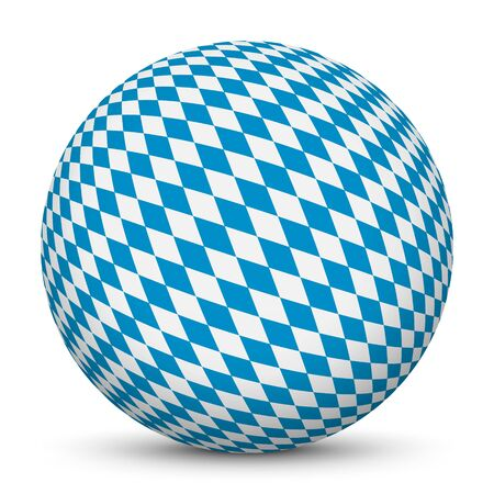 blue sphere: Sphere with Bavarian Diamond Pattern Texture - Rhombs in Blue and White