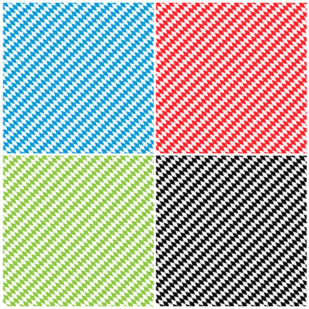 diamond texture: Bavarian Diamond Pattern Texture Background Set in Different Color - Rhombus in Blue, Red, Green and Black Illustration