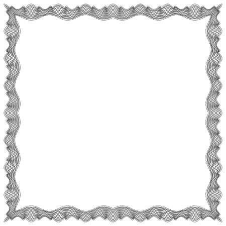 edge: Decorative Vector Frame Template with Empty Space for Certificate, Report or other Documents