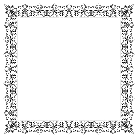 framework: Decorative Vector Frame Template with Empty Space for Certificate, Report or other Documents