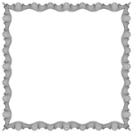 other space: Decorative Vector Frame Template with Empty Space for Certificate, Report or other Documents