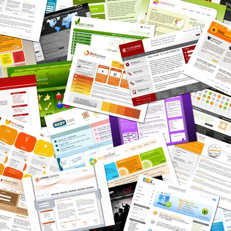 master page: Colorful Several Webdesign Templates - Design Collection Scattered on the Ground