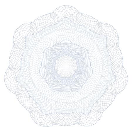 guilloche pattern: Guilloques Patr�n Rosette por Certificado, Juego de Dinero u Otros papeles de seguridad - Ilustraci�n vectorial Vectores