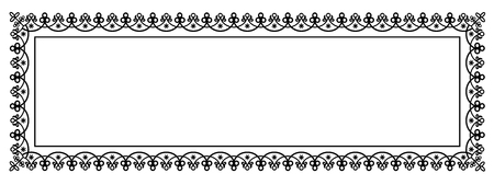 edge: Decorative Vector Frame Panorama Template with Empty Space for Banner, Certificate, Report or other Documents