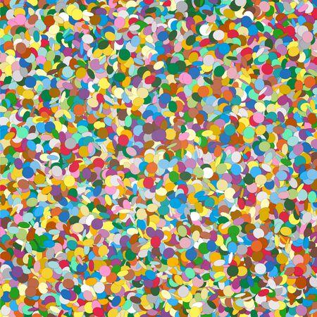 Confetti Background Template - Chads Backdrop Vector Illustration