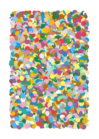 Colorful Rectangular Vector Confetti Heap Background - Isolated, Dots, Points - Backdrop Template Illustration - Particle Design
