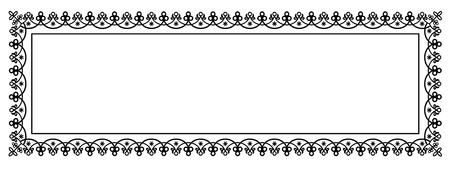 배너, 인증서, 보고서 또는 다른 문서에 대 한 빈 공간을 가진 장식 벡터 프레임 파노라마 템플릿