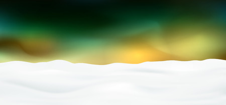 Abstract Green Nacre Colored Panorama Background Landscape, Snowscape - Fresh Snowfall - Beautiful Winter Season Snow Banner with Text Space Imagens