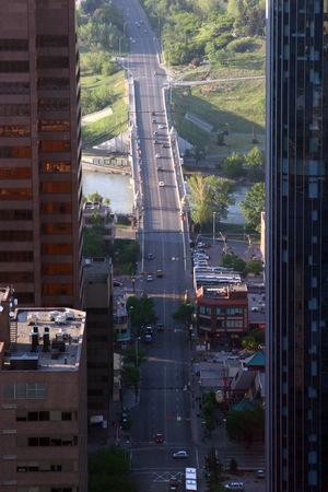 calgary: An aerial view of Calgary from Calgary Tower