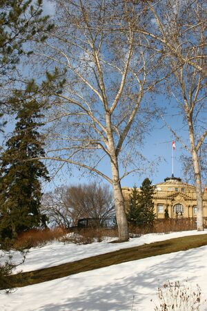 legislature: Photo of the backside of Alberta Legislature Stock Photo