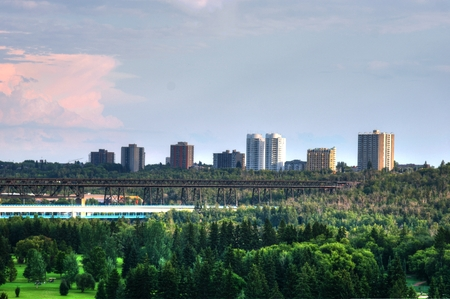 Edmonton saskatchewan river Stock Photo