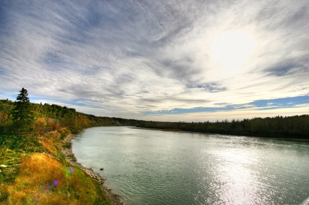 Saskatchewan River Stock Photo