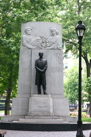 tribute: Sir Wilfrid Laurier tribute monument at Dorchester Square Editorial