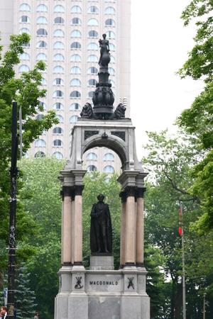 macdonald: John A. Macdonald  Monument at Place du Canada Editorial