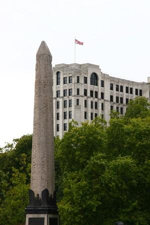 obelisk: Obelisk at Embankment beside the Thames river