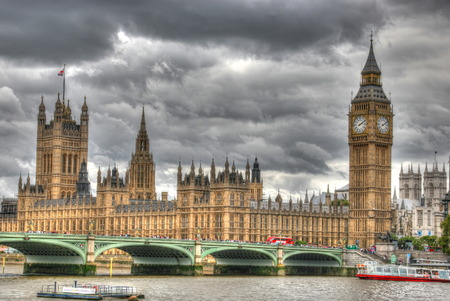 hdr: A creative HDR image House of Parliament and Big Ben