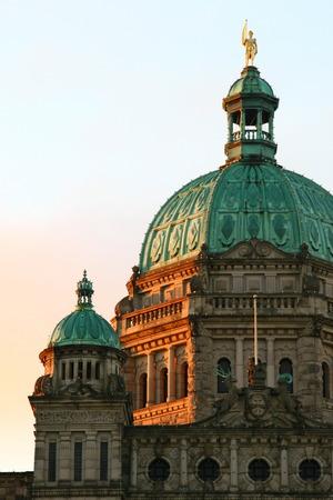 parliament building: BC Parliament building in Victoria Stock Photo