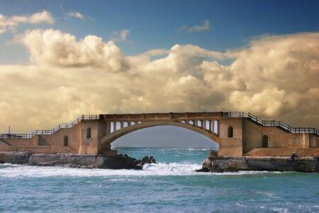 alexandria: Foot bridge at Montazah park in Alexandria Egypt