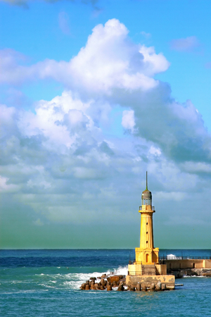 alexandria: Lighthouse at Montazah in Alexandria Stock Photo